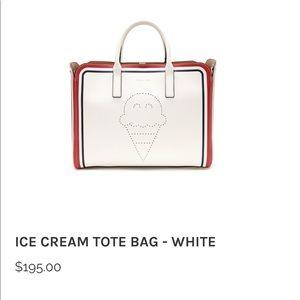Arina & Kate ice cream bag tote - white